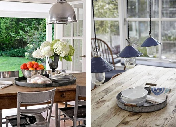 Tray as dining table centerpiece Όμορφα Μυστικά της